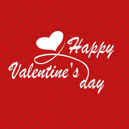 Happy Valentines Day typography poster with handwritten calligraphy text, isolated on white background. Vector Illustration Иллюстрация