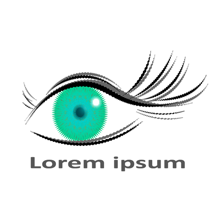 Eye vector logo design idea. Optician creative symbol concept template.