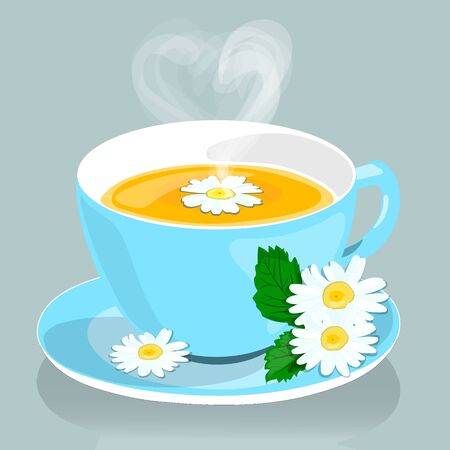 Chamomile. Chamomile tea. Useful medicinal drink from the flowers of chamomile.