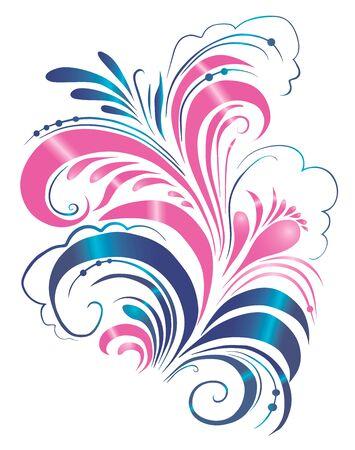 floral ornament, scroll, flower leaf, engraved ornament, floral pattern, ornament, decorative design, illustration,