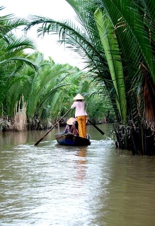 mekong: mekong river delta in vietnam Stock Photo