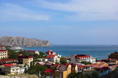 seaside town: Seaside town of Crimea in Sudak
