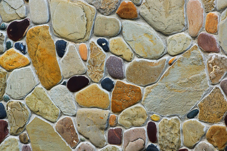 frontage: Background of different natural stones Stock Photo