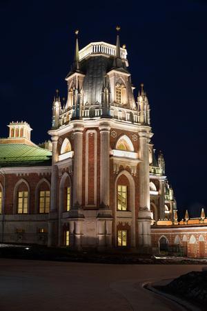 tsaritsyno: Tsaritsyno palace complex at night.Moscow. Editorial