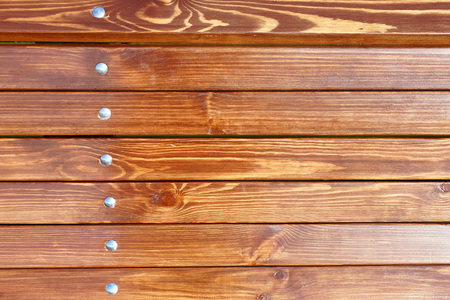 wooden beams: Background and wooden beams with metal rivets