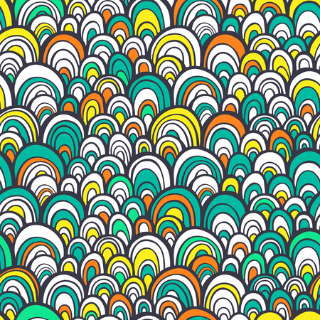 Vector seamless pattern with colorful abstract scale texture Vector