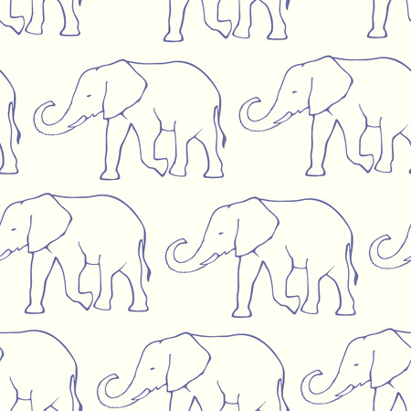 Elephant Drawing Outline Drawn Outline Elephants