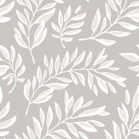 Floral seamless pattern with outline branches  Decorative background  Vector illustration  Vector