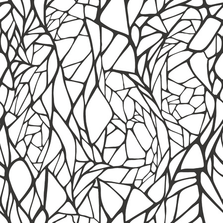 Seamless pattern with hand drawn abstract geometric ornament  Vector illustration  Vectores