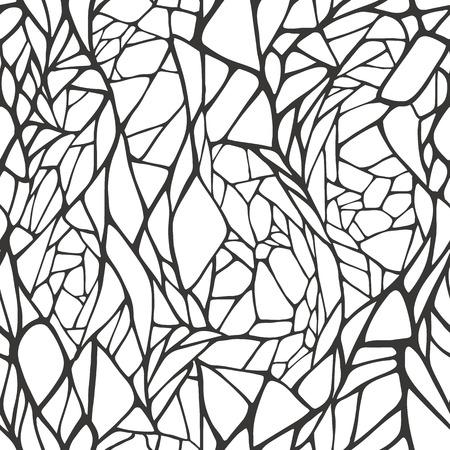 Seamless pattern con disegnata a mano astratto geometrica ornamento illustrazione vettoriale Archivio Fotografico - 26017863