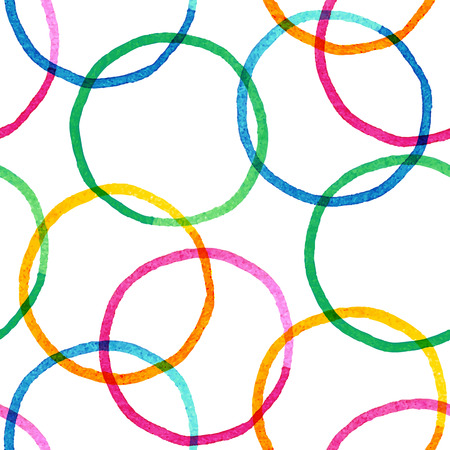 Vector seamless pattern with hand drawn watercolor painted circles Illustration