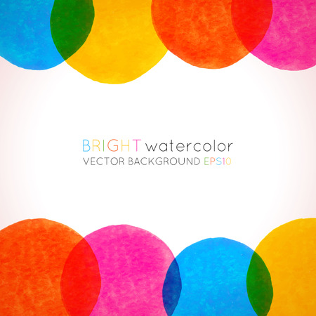 Vector background with colorful watercolor circles  Template for your design