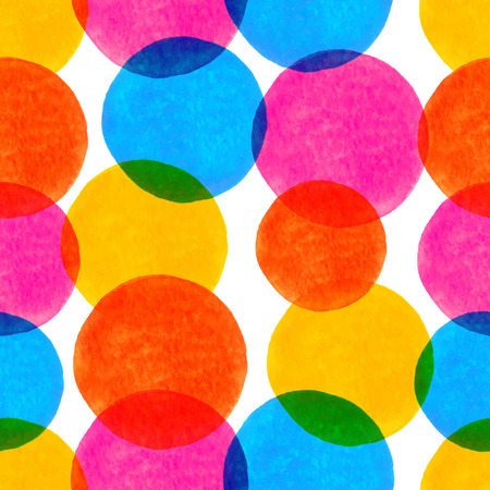 Vector seamless pattern with colorful watercolor circles  Template for your design Vector