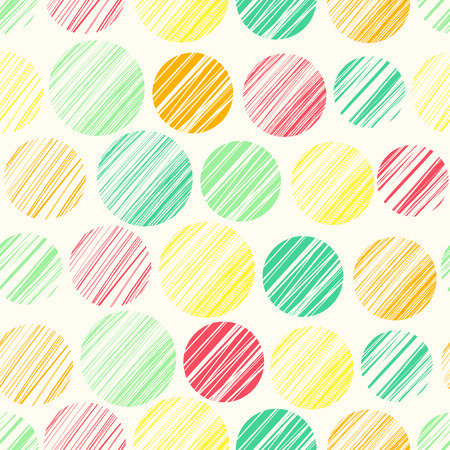 Seamless pattern with abstract polka dot ornament Stock Illustratie