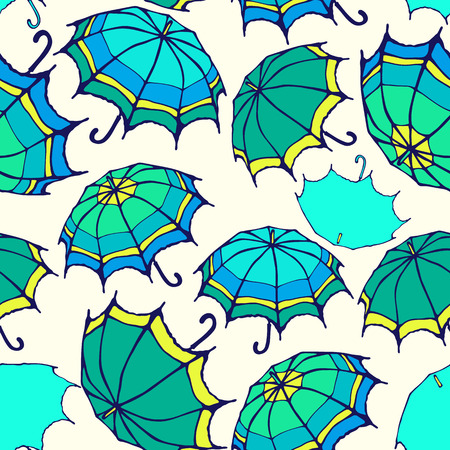 Seamless pattern with decorative colorful umbrellas Stock Vector - 27190746