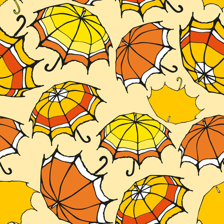 Seamless pattern with decorative colorful umbrellas Stock Vector - 27190747
