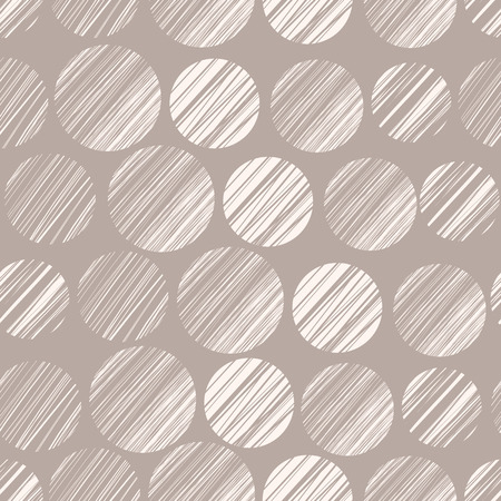 Seamless pattern with hand drawn polka dot ornament