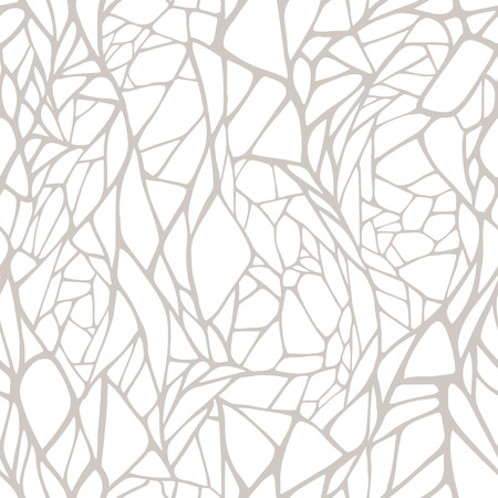 Seamless pattern with hand drawn abstract geometric ornament