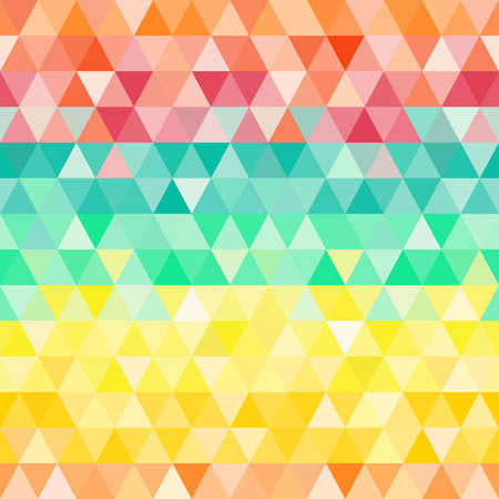 Triangle colorful seamless abstract background Vector