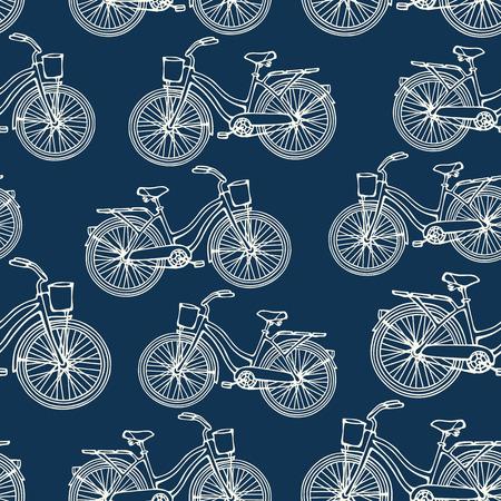 概要ビンテージ自転車とのシームレスなパターン