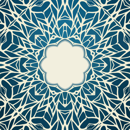 Mosaic ornamental lace frame, abstract background Vector