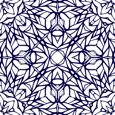 persia: Seamless pattern with ethnic lace ornament