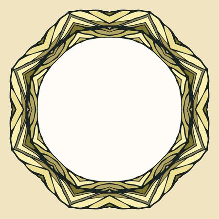 ornamental background: Ethnic round mandala ornamental background Illustration