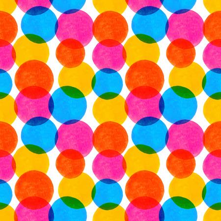 水彩に塗られた要素のシームレス パターン