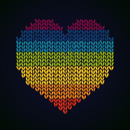虹ニット デザイン テンプレート背景、デコラを聞いた  イラスト・ベクター素材