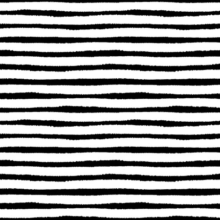 Hand painted brush strokes seamless pattern, striped background Vector