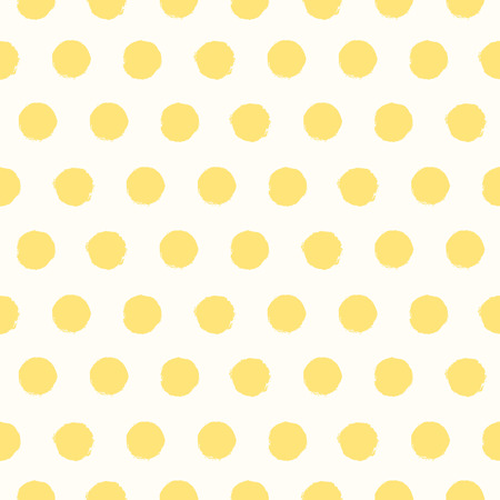 polka: Seamless pattern with painted polka dot texture Illustration