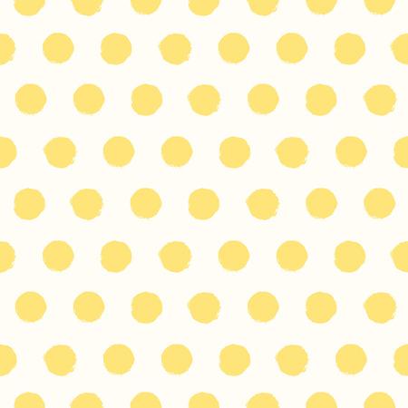 polka dots: Seamless pattern with painted polka dot texture Illustration
