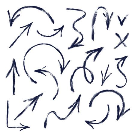 手描きの矢印図のセット