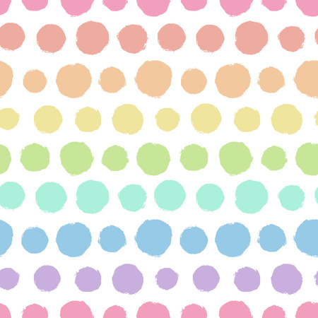 Seamless pattern with painted polka dot texture Vectores