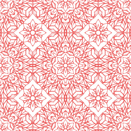 lace pattern: Seamless pattern with ethnic lace ornament