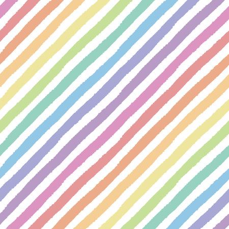 塗られた斜めのストライプとレトロなシームレス パターン