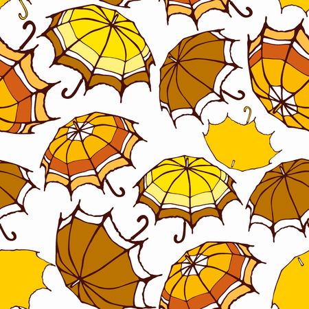 Seamless pattern with decorative colorful umbrellas  Vector