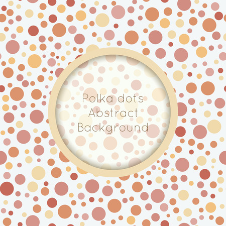 bubbly: Polka dot seamless pattern with place for text