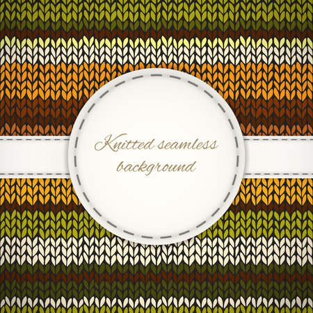 knitted background: Fondo hecho punto incons�til con el marco cosido