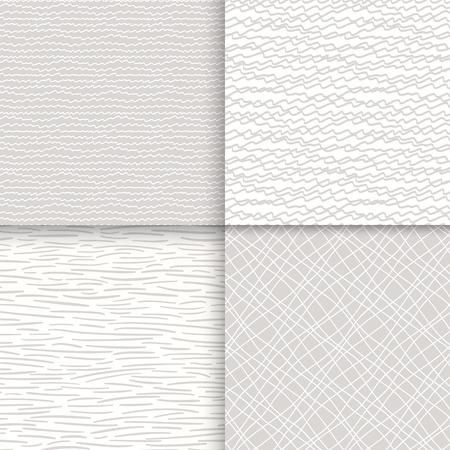 Geometrische doodle naadloze patronen instellen Stock Illustratie