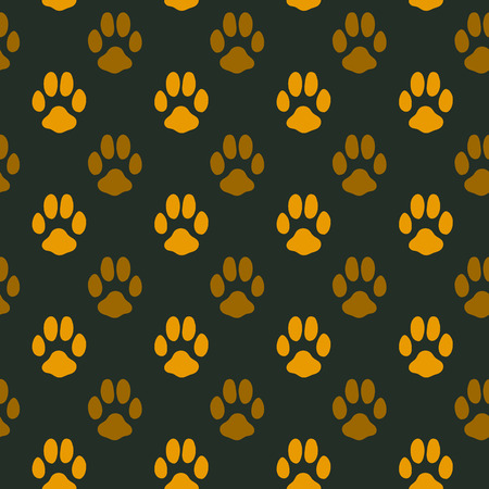 Seamless pattern with animal footprint texture Vector