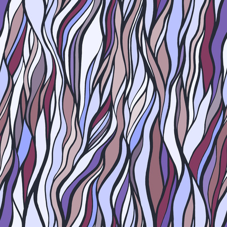 Seamless pattern with doodle waves ornament