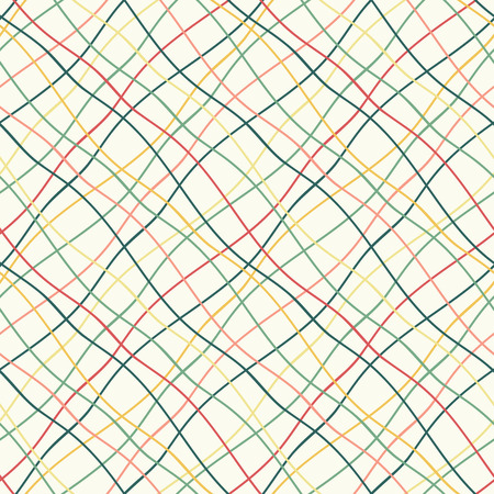 grid pattern: Seamless pattern with crossed wavy lines Illustration