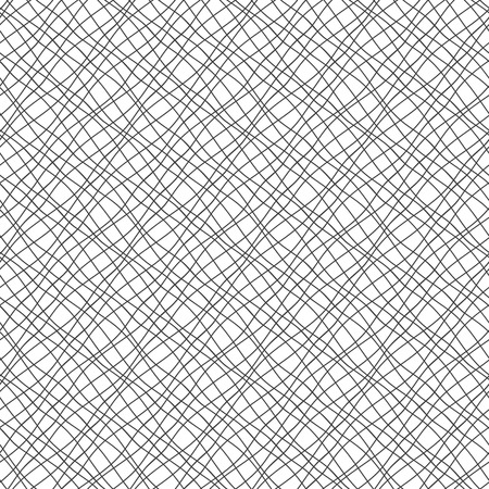 background tile: Seamless pattern with crossed wavy lines Illustration