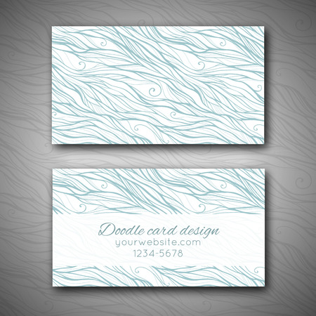 abstract doodle: Abstract doodle business card template Illustration