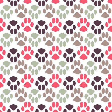 動物のフット プリントの質感とのシームレスなパターン