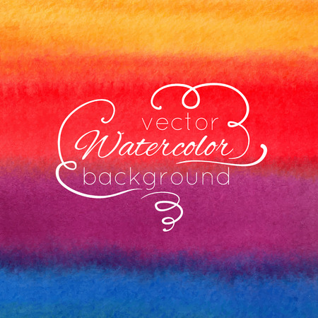 Watercolor abstract colorful background Vector