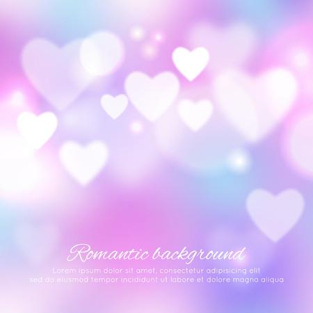 Día de San Valentín romántica de fondo Vectores