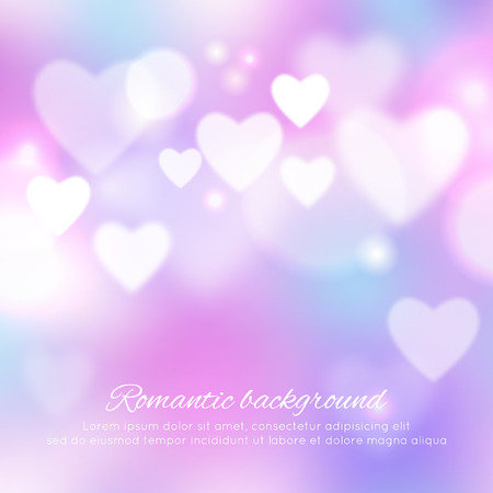 abstract heart: Valentines day romantic background