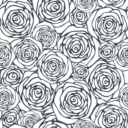 装飾的なバラとシームレスなパターン